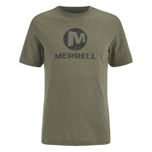 Merrell Men's Vintage Stacked Logo T-Shirt - Grape Leaf Heather Green