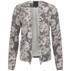 ONLY Women's Blackbird Floral Blazer - Cloud Dancer