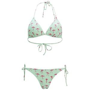 ONLY Women's Flamingo Print Bikini - Bay