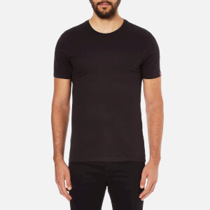 Levi's Men's Slim 2 Pack Crew T-Shirts - Black/Black