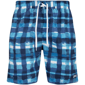 Zoggs Men's Water Check Scarborough 19 Inch Swim Shorts Blue Check
