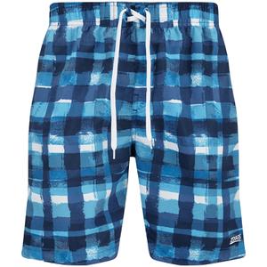 Zoggs Men's Water Check Scarborough 19 Inch Swim Shorts Blue Check