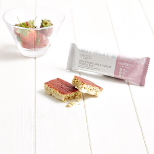 Meal Replacement Box of 50 Strawberry Jam and Yogurt Crunch Bars