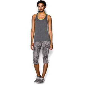 Under Armour Women's Heat Gear Alpha Training Tank Top - Carbon Heather/Metallic Silver
