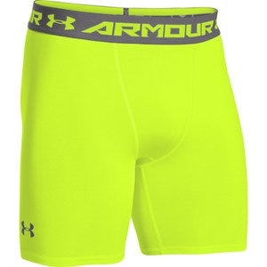 Under Armour Men's Armour Heat Gear Compression Training Shorts - Yellow/Graphite