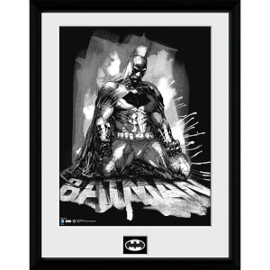 DC Comics Batman Comic Paint - Framed Photographic - 16 x 12inch