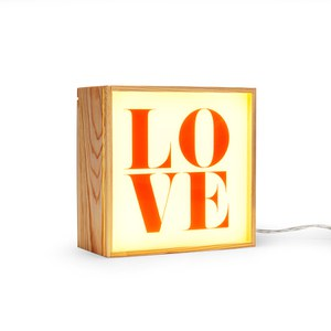 Seletti Lighthink Box Wood Wall Light - 4 Pieces