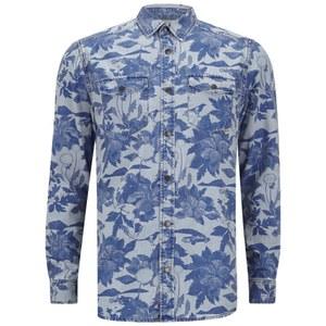 WeSC Men's Maccoy Denim Shirt - Suburban Tropic