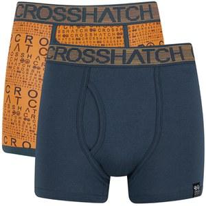 Pack de 2 boxers 'Squint' por Crosshatch - Apricot/Blue Wing