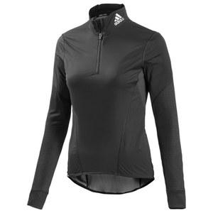 adidas Women's Warm Wind Wilma Long Sleeve Jersey - Black/Reflective Silver