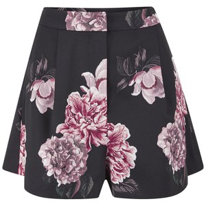 C/MEO COLLECTIVE Women's Crew Love Shorts - Black Bouquet