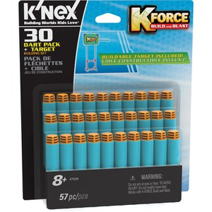 K'NEX K-Force 30 Dart Pack + Target Building Set (47528)