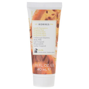 KORRES Natural Bergamot Pear Body Milk -vartalovoide, matkakoko 40ml