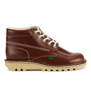 Bottines en Cuir Kickers Kick Hi -Brun