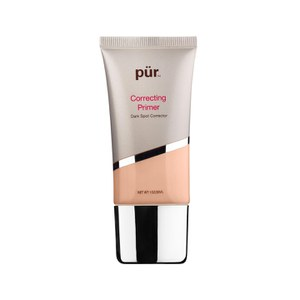 PUR Colour Correcting Primer in Dark Spot Corrector in Peach.