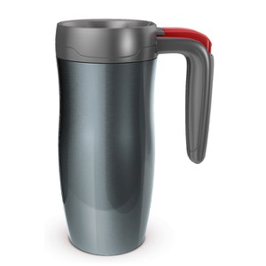 Contigo Randolph Autoseal Travel Mug (470ml) - Gunmetal/Red