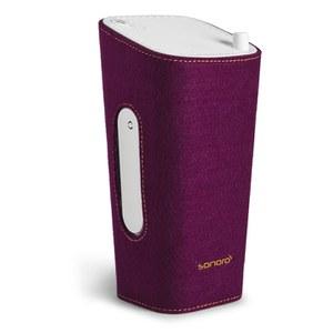 Sonoro Cubo Go New York Portable Bluetooth Speaker - White/Purple Felt