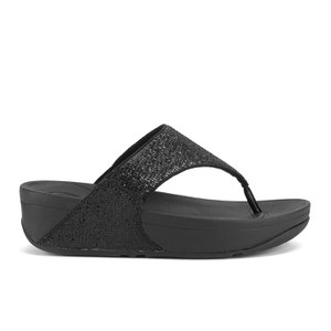 FitFlop Women's Lulu Superglitz Flip Flop Sandals - Black