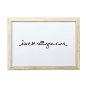 Parlane Love Wall Art - White