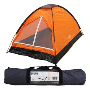 Milestone Dome 2 Person Tent - Orange
