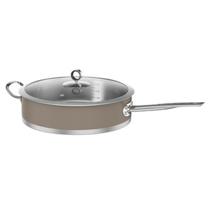 Morphy Richards 973031 Accents Saute Pan with Glass Lid - Barley - 28cm