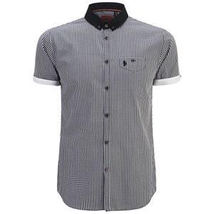 Luke 1977 Men's David Foster Short Sleeve Shirt- Black/White
