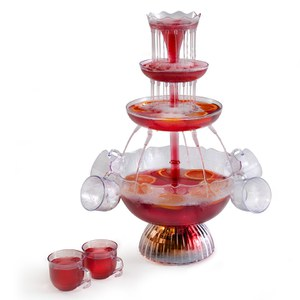 Elgento E26008 Illuminating Cocktail Fountain - Clear