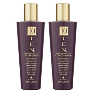Alterna Ten Perfect Blend Shampoo (250 ml) og Conditioner (250 ml).