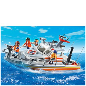 Playmobil Coast Guard Rescue Boat with Water Hose (5540)