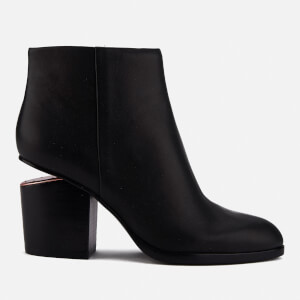 Alexander Wang Women's Gabi Leather Heeled Ankle Boots - Black/Rose Gold