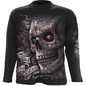 Spiral Men's EL MUERTO Long Sleeve T-Shirt - Black