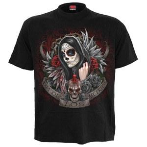 Spiral Men's Día de los Muertos T-Shirt - Black