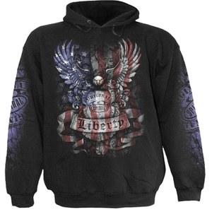 Spiral Men's LIBERTY USA Hoody - Black