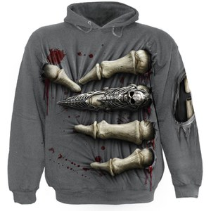 Spiral Men's DEATH GRIP Hoody - Charcoal