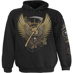 Spiral Men's STEAM PUNK REAPER Hoody - Black
