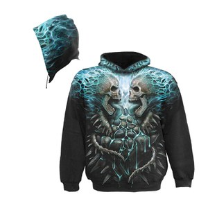 Spiral Men's FLAMING SPINE Hoody - Black