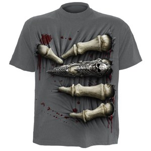 Spiral Men's DEATH GRIP T-Shirt - Charcoal