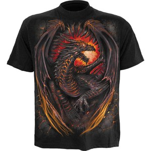 Spiral Men's DRAGON FURNACE T-Shirt - Black