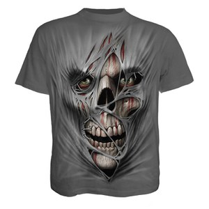T-Shirt Homme Spiral STITCHED UP -Gris Foncé