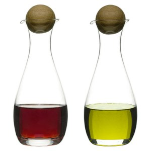 Sagaform Oil/Vinegar Bottles With Oak Stoppers (2-Pack)