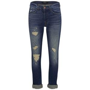 J Brand Women's Georgia Mid Rise Slim Fit Boyfriend Jeans - Blitz