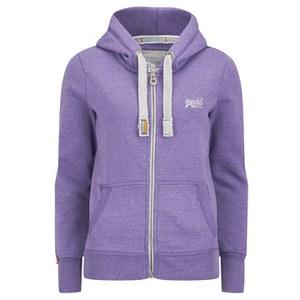 Superdry Women's Orange Label Pop Zip Hoody - Purple/True Grit