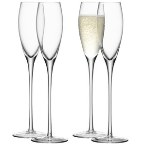 LSA Wine Champagne Flutes - 200ml (Set of 4)
