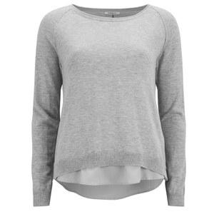 ONLY Women's Lynne Split Back Sweatshirt - Grey