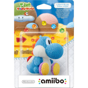 Light Blue Yarn Yoshi amiibo (Yoshi's Woolly World Collection)