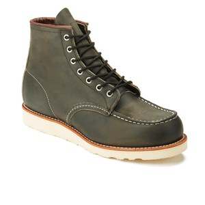 Red Wing Men's 6 Inch Moc Toe Leather Lace Up Boots - Charcoal Rough and Tough: Image 5
