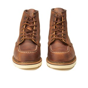 Red Wing Men's 6 Inch Moc Toe Double Welt Leather Lace Up Boots - Copper Rough and Tough: Image 4