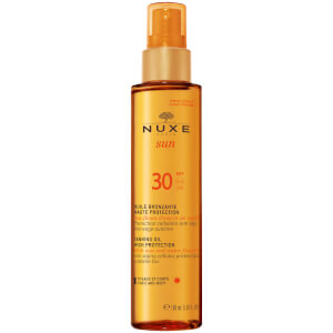 NUXE Sun Tanning Oil Face and Body SPF 30 -rusketusöljy kasvoille ja vartalolle (150ml)