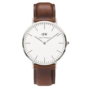 Daniel Wellington Classic St Mawes Silver Watch - Tan