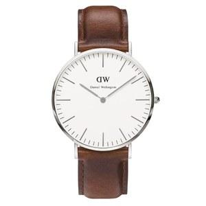Daniel Wellington Classic St Mawes Silver Watch - Tan